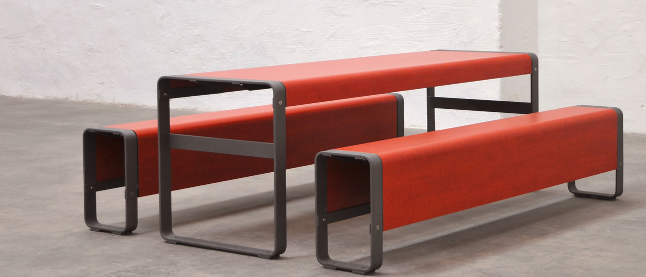 Superfine bord- og bænk af højtrykslaminat